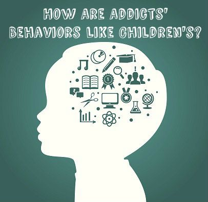 How is substance abuse childish behavior? Why do drug abusers act like children and how can they learn to grow up? See how to grow up and learn self-control!
