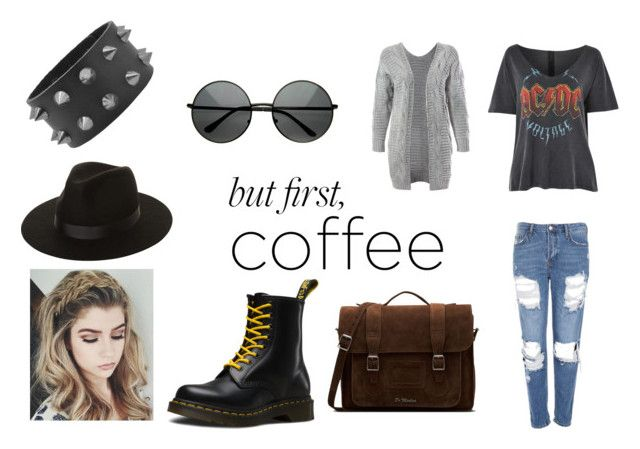"""But First, Coffee"" by gothicvamperstein on Polyvore featuring Topshop, Sans Souci, Dr. Martens, Lack of Color and coffeebreak"