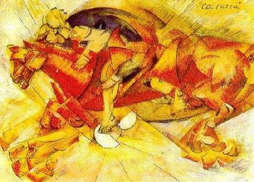 Le cavalier, par Carlo Carrà