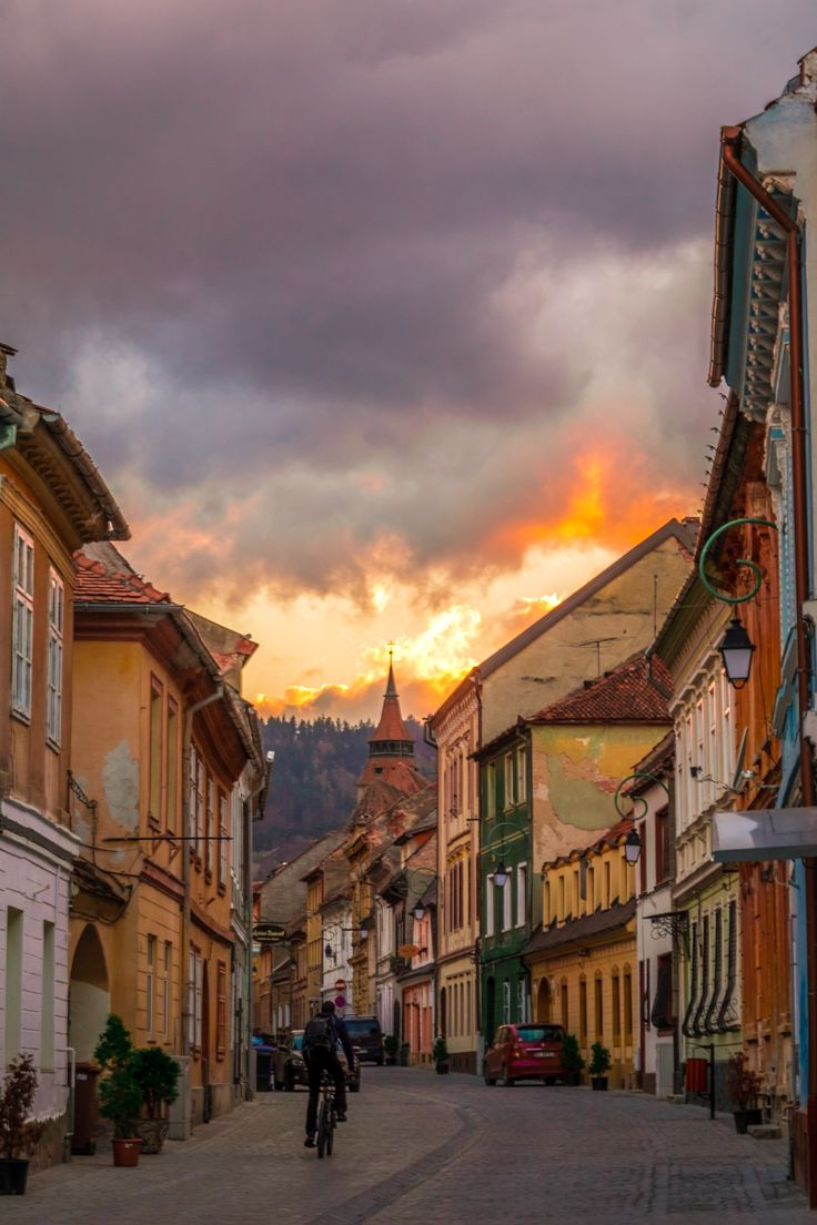 Brasov, Romania #brasov #romania #wanderlust #europe #seetheworld #sunset #city #travel #destination #fernweh
