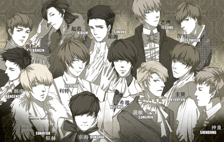 Super Junior FanArt [BY:阿猫] + Name in Korean on Twitpic....oh I lo e this fanart of yesung
