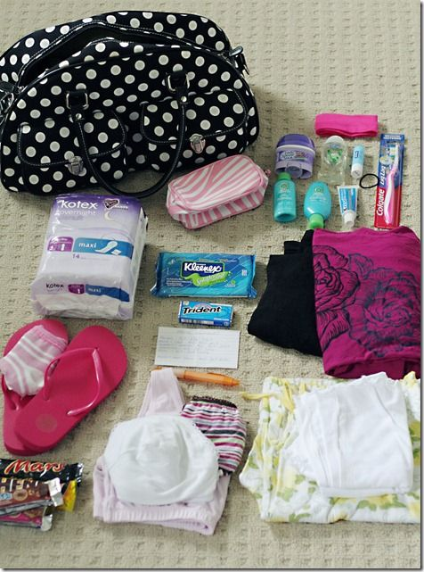 What to pack when having a baby.. I want to remember this for down the road.