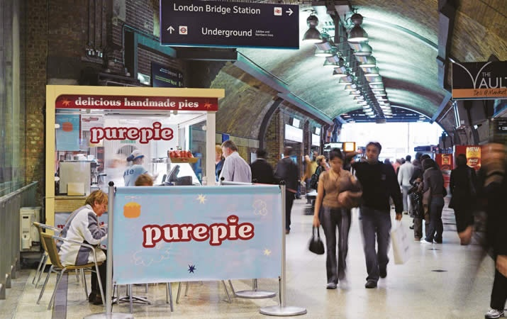 London Paddington was a great place to see our signs for Pure Pie
