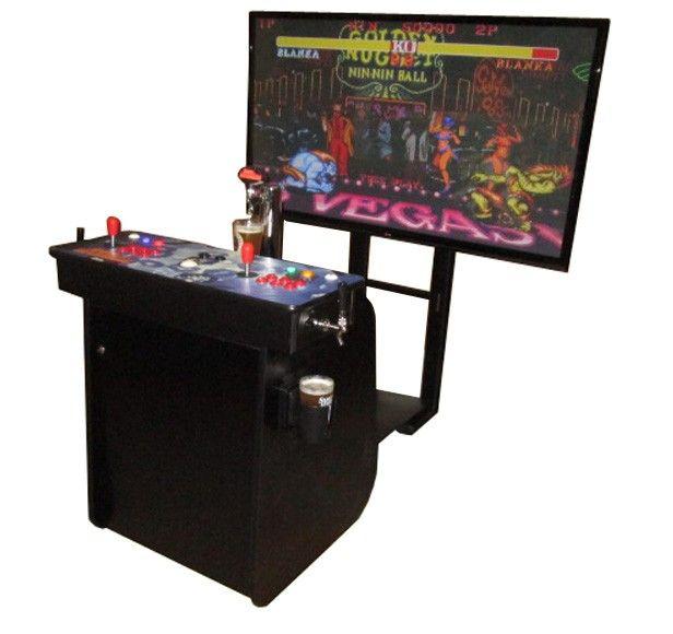 El sueño adolescente: Máquina arcade con dispensador de cerveza y pantalla de 60''