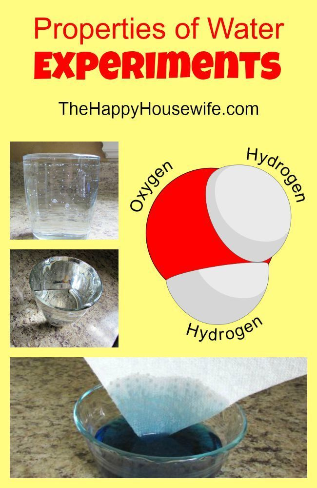 If you are looking for some hands-on activities for your homeschool, or a science fair project, try this properties of water experiment. Properties of Water Experiments at The Happy Housewife