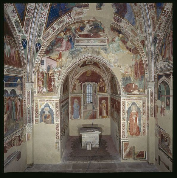 Spinello Aretino - Storie di Santa Caterina d'Alessandria - Interno dell'Oratorio - affresco - 1348-1387 - Oratorio di Santa Caterina delle Ruote - Bagno a Ripoli (Firenze)