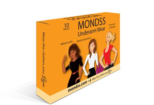 Mondss Underarm Sweat Pads are breathable underarm wear that prevent sweat stains. Locks in odour. Treats excessive sweating. Stop perspiration marks