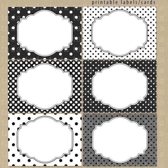 Etiquetas vintage blanco y negro - Imagui
