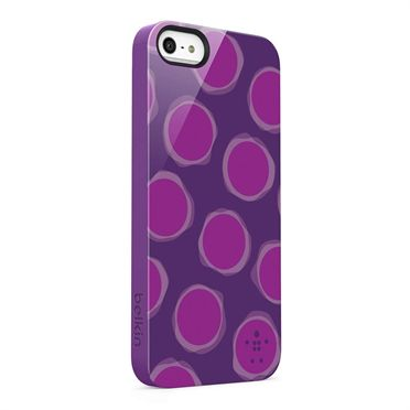 Shield Spot for iPhone 5 and iPhone 5s - Purple Lightning -  SideView1Image