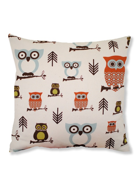 Marvelous Owl Stuff For The Home Part - 14: Woodland Owls Cushion @ Hunky Dory Home
