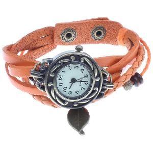 Oxidised Finish Bracelet Cum Watch By Golden Peacock