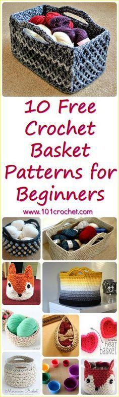 10 Free Crochet Basket Patterns for Beginners | 101 Crochet