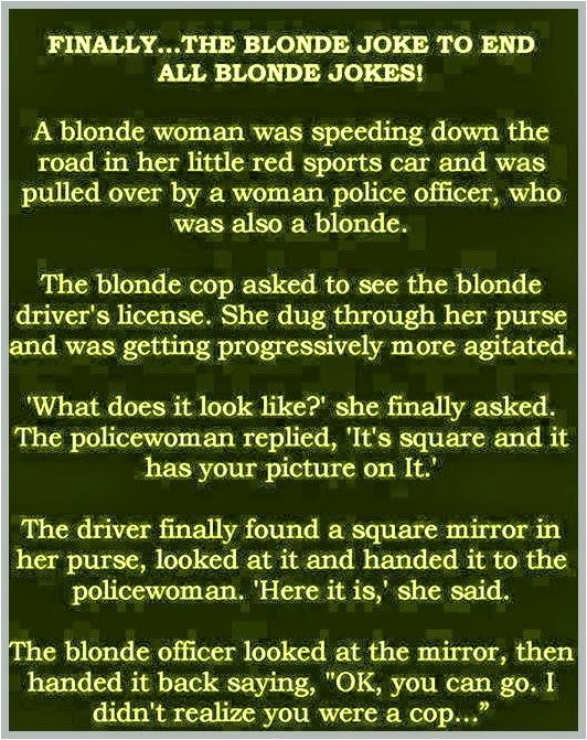 Artistic Land : Finally, The Blonde Joke To End All Blonde Jokes - Funny Pictures.