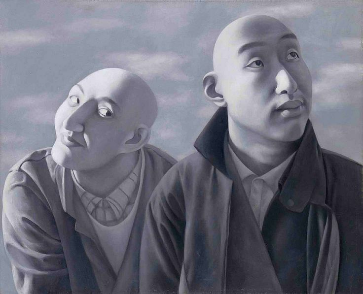 Fang Lijun (1963- ) - 1990-91 Series 1, No. 5 (Christie's Hong Kong, 2011) Cynical realism in it's best