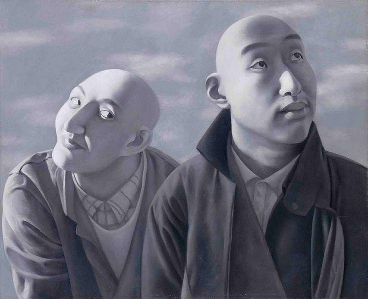 Fang Lijun (1963- ) - 1990-91 Series 1, No. 5 (Christie's Hong Kong, 2011) Cynical realism in it's best