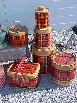 Boy, do I remember the Scotch plaid picnic paraphernalia - wish I still had some.
