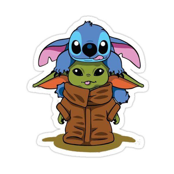 Stitch And Friend 3 Art Sticker By Vansantnatasha In 2021 Cute Cartoon Drawings Baby Disney Characters Cute Cartoon Wallpapers