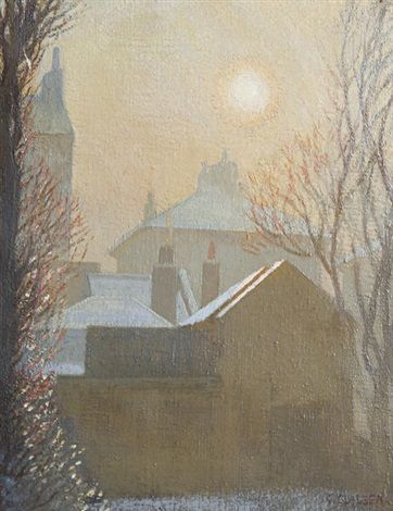 A winter morning in London - George Clausen British, 1852–1944