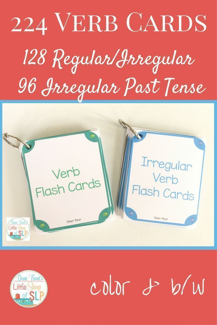 This bundle allows you to create a set of regular and irregular verb cards plus a set of past tense verb cards. One set gives you single pictures of both regular and irregular verbs while the other set gives you present/the past tense word pairs!  Verb flash cards/ regular and irregular verbs/irregular past tense.