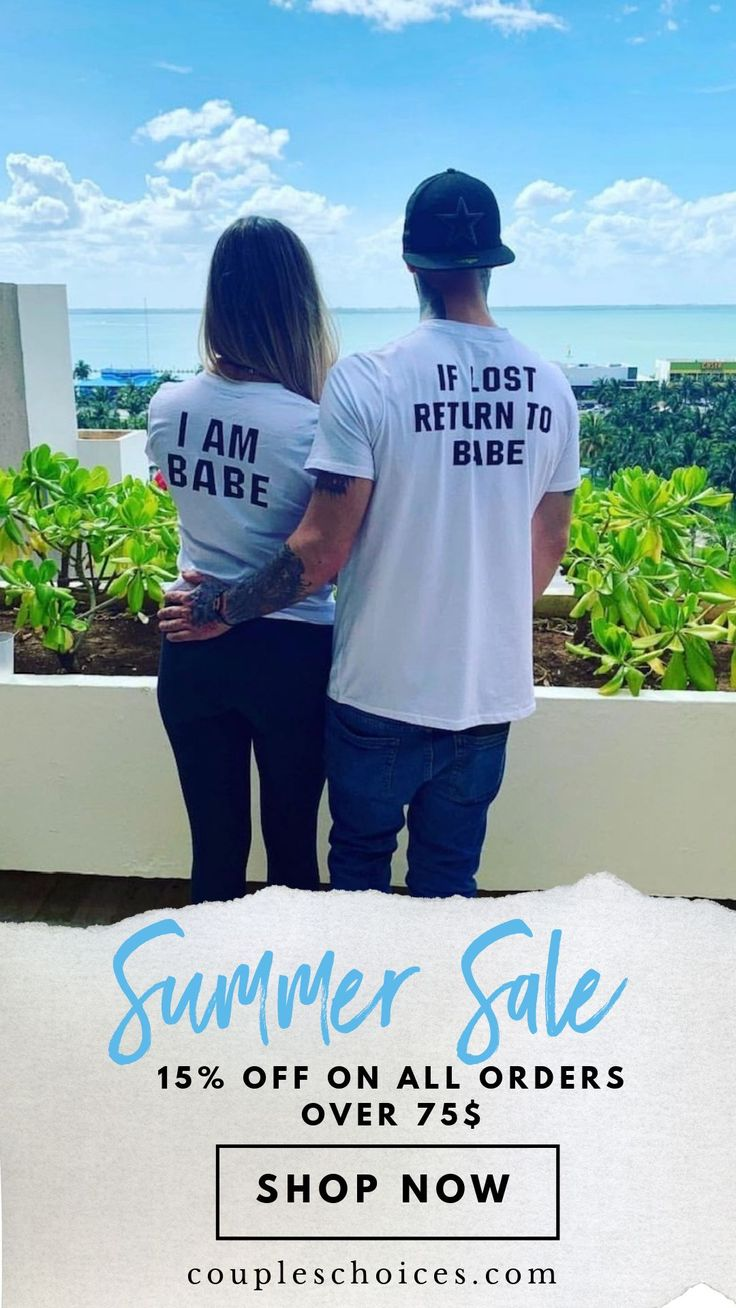 Cute & Funny Matching Shirts For Couples.
