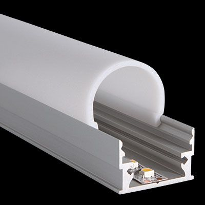 Profile M-Line Low / Cover Round::LED Leuchten - LED Lights :: PROLED MBNLED