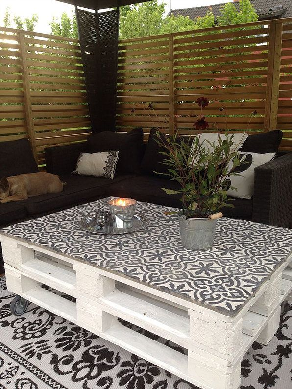 DIY: Une jolie table basse aux allures bohèmes dans votre jardin | Architecture Intérieur-Décoration-Design-MalisonLifeDco-Nîmes