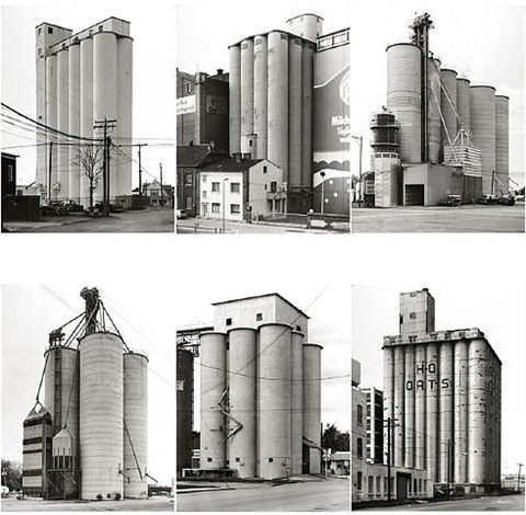 Grain Silos by Bernd and Hilla Becher