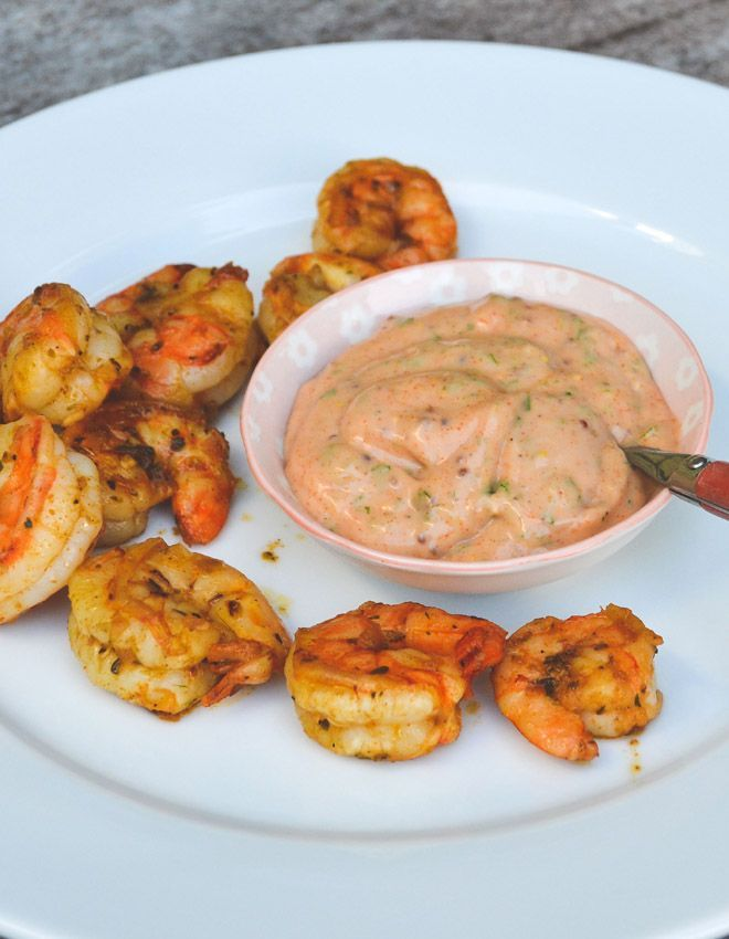 Louisiana Shrimps with Cajun Remoulade Sauce