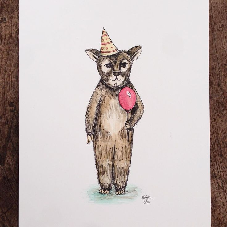 This sketch is dedicated to everyone who made yesterday's Designing a Children's Book opening awesome! #newcastle #local #readingbooks #albert #partyhat #illustration #watercolor #childrensbooks #buyalbert