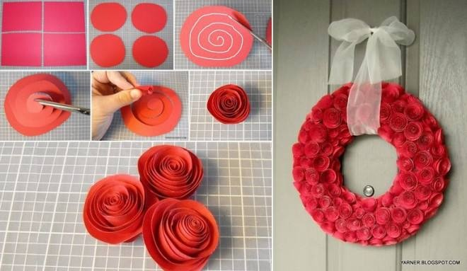 Learn how to make your own Paper Flower Wreath