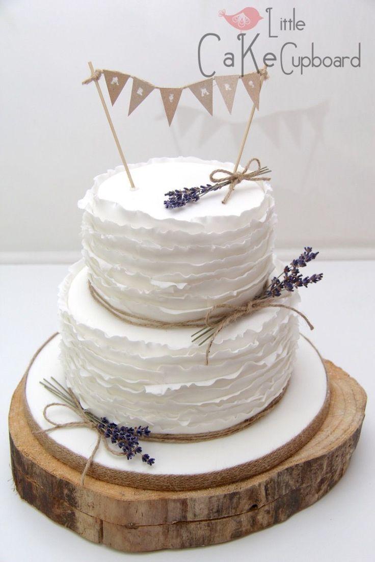 Ruffle Rustic Wedding Cake