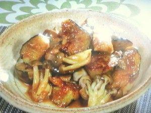 Nasu eggplant & chicken miso saute -  NHKきょうの料理ビギナーズ「なすと鶏肉のみそ炒め」のレシピby河野雅子 8月8日