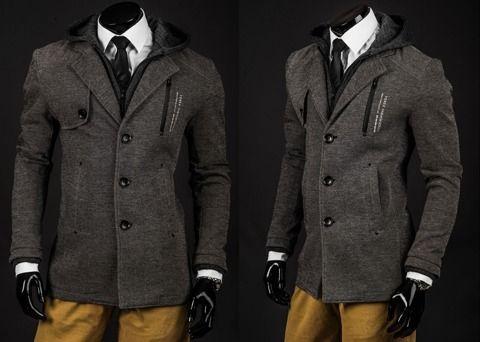 FOREX 2212 - SZARY   Odzież Dla Niego \ Płaszcze męskie \ Płaszcze ocieplane Kolekcja Męska   Denley - Odzieżowy Sklep internetowy   Odzież   Ubrania   Płaszcze   Kurtki