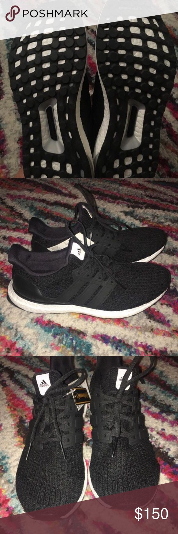 Adidas Ultra Boosts Women's brand new, never worn Adidas Ultra Boosts. Size 9, black - selling because they are too big for me and i can't find the receipt! adidas Shoes Athletic Shoes