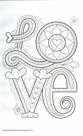 Color Love Coloring Book Thaneeya Mcardle By Thecot Eneedle