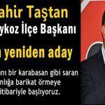 CHP Beykoz İlçe Başkanı Taştan yeniden aday