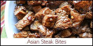 Barefeet In The Kitchen: Asian Steak Bites- i might replace the honey with brown sugar