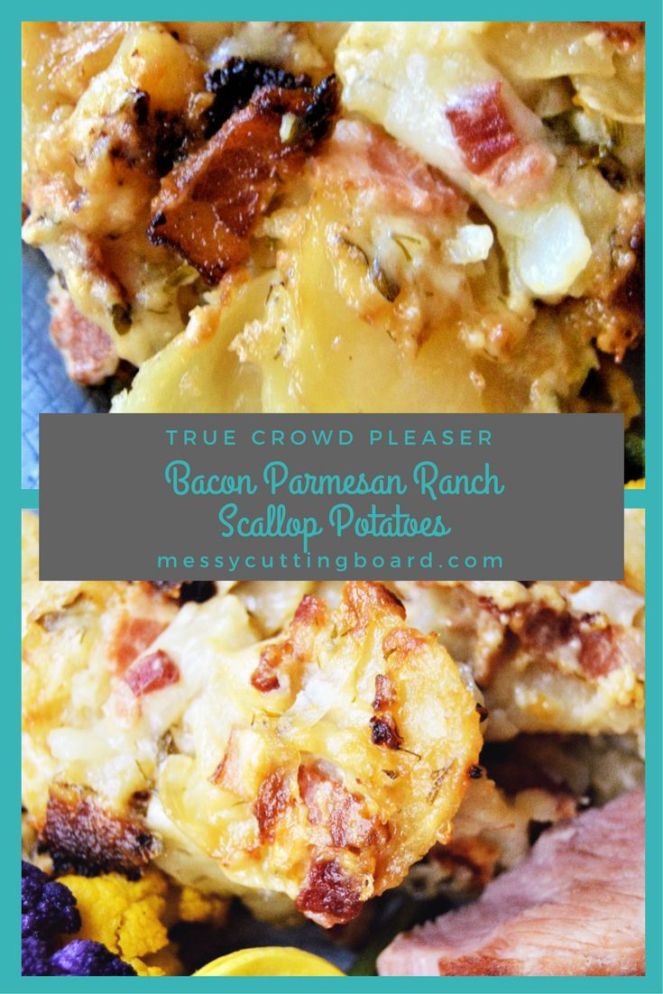 A creamy, herb-packed, smokey bacon, covered potatoes side dish. This Bacon Parmesan Ranch Scallop Potato is the ultimate spring side dish to serve with any meal or banquet. It is a true crowd pleaser!