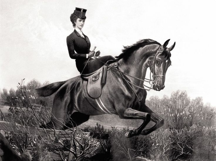 Perhaps thanks to costume dramas, the modesty-minded side saddle has come back into style.