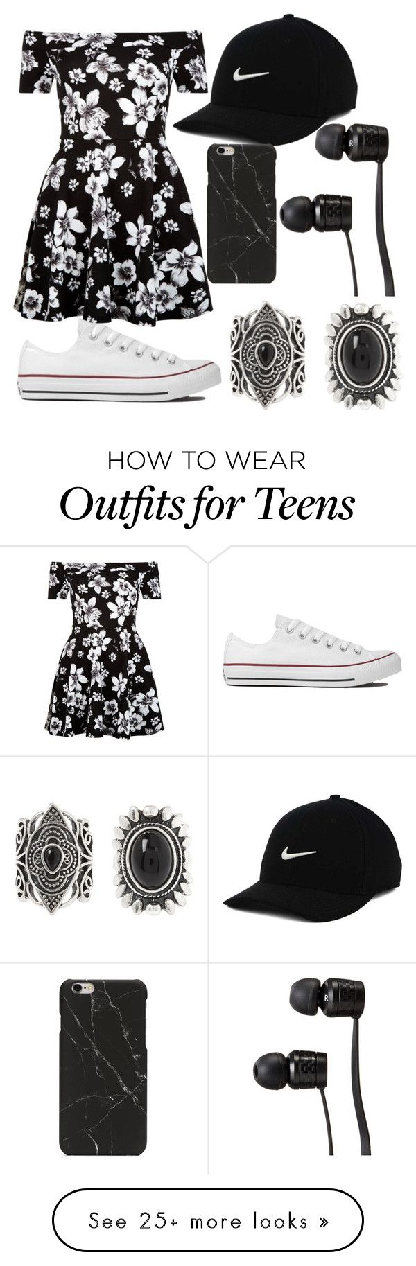 Untitled #679 by mriss-abbrie on Polyvore featuring New Look, Converse, NIKE and Vans