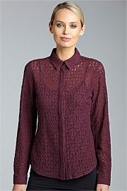 Lace Shirt - Capture @Ezibuy - HOT COLOUR FOR WINTER! #fashionblogger #youngandpolished #lace #workready