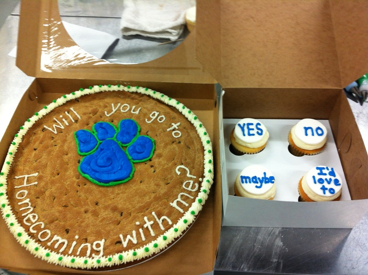 Cookie cakes, Ask me and Homecoming on Pinterest