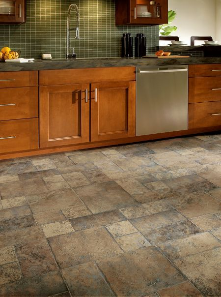 Random Block Paver Laminate by Armstrong...this is what we put in our kitchen and master bath...