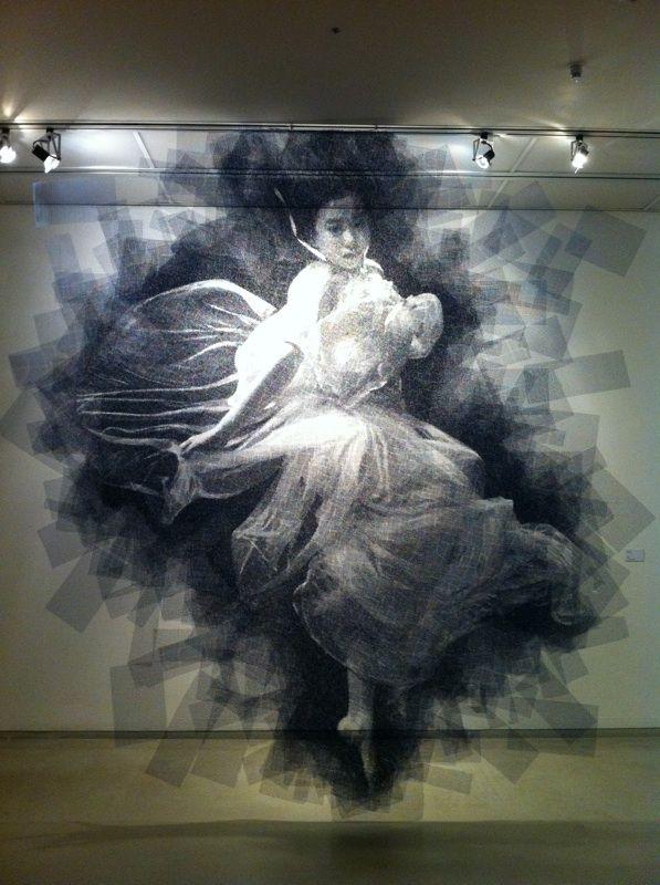Wire mesh portraits - Seung Mo Park