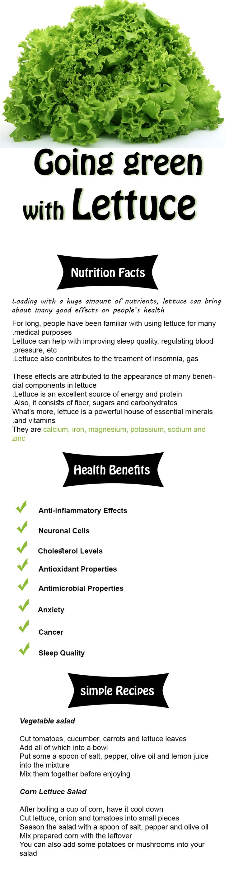 Lettuce: Nutrition Facts and Health Benefits