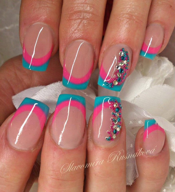 25+ Best Ideas About Pink Blue Nails On Pinterest