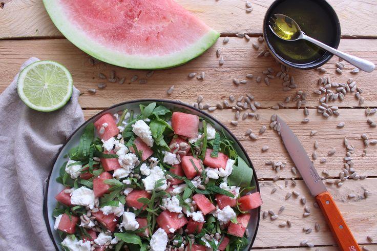 Watermeloen salade met munt