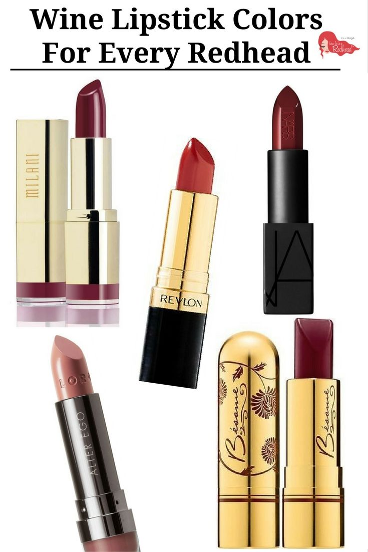 Wine #Lipstick Colors For Every Redhead | How to be a Redhead