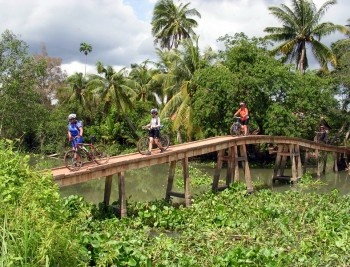 Cycling tour in the Mekong Delta