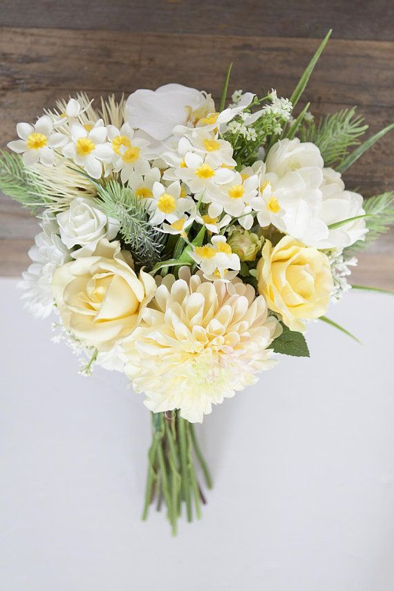 Yellow Bridal Bouquet Yellow Bouquet Daffodil Bouquet White